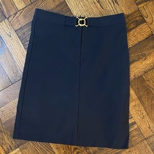 Bisou Bisou Black Pencil Skirt